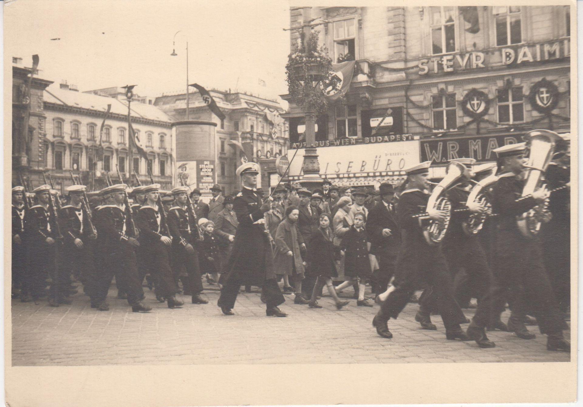 Einzug der deutschen Marine in Wien.