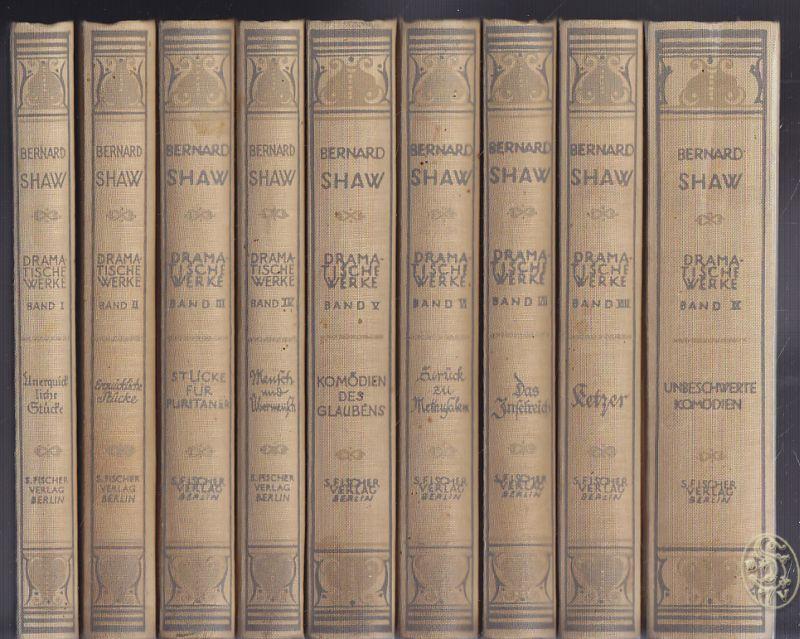 Dramatische Werke. Gesammelt in sieben Bänden [und die Ergänzungsbände 8 und 9]. Übertragung von Siegfried Trebitsch.