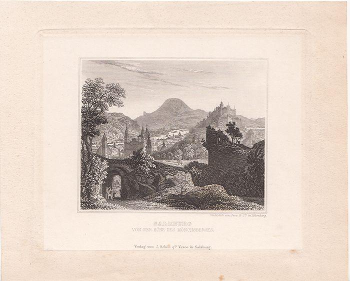 Salzburg von der Höhe des Mönchsberges.