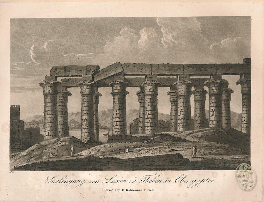 Säulengang von Luxor zu Theben in Oberägypten.