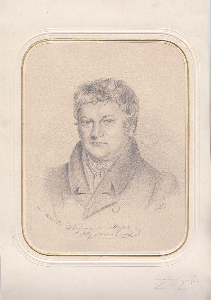 KRUMHOLZ, F[erdinand] (1810-1878). Ignatz Hesse, Syndikus zu Hof.