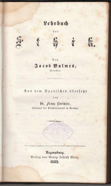 Lehrbuch der Ethik. Lehrbuch der Geschichte der Philosophie.