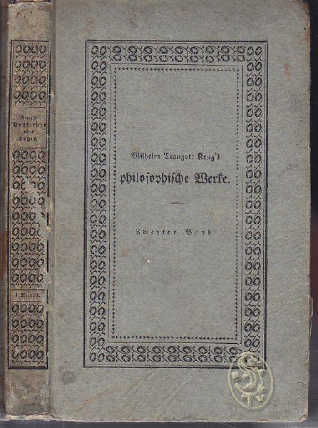 System der theoretischen Philosophie. [Zweyter Band] Erster Theil. Erste Abtheilung.