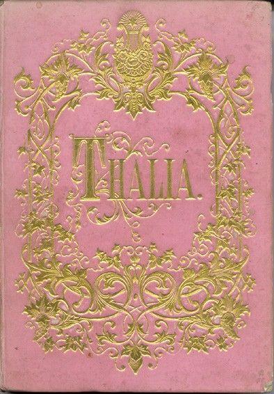 THALIA. Taschenbuch für 1867. Red. v. Friedrich Steinebach. Hrsg. v. Carl  Ziegelhauser.
