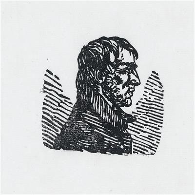 Selbstporträt von Caspar David Friedrich, im Profil nach rechts.