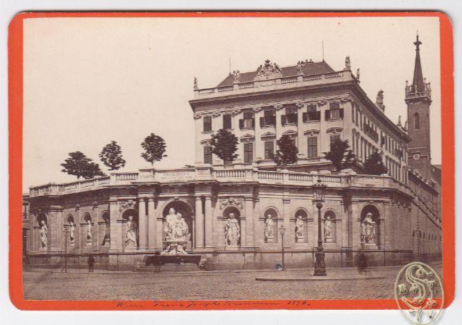 Wien, Franz Josephs Brunnen 1874.