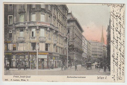 Wien I. Rothenthurmstrasse. Franz Josefs-Quai.