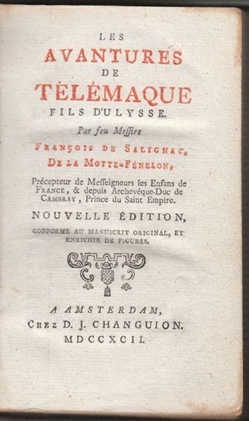 Les Aventures de Télémaque. Fils d`Ulysse.