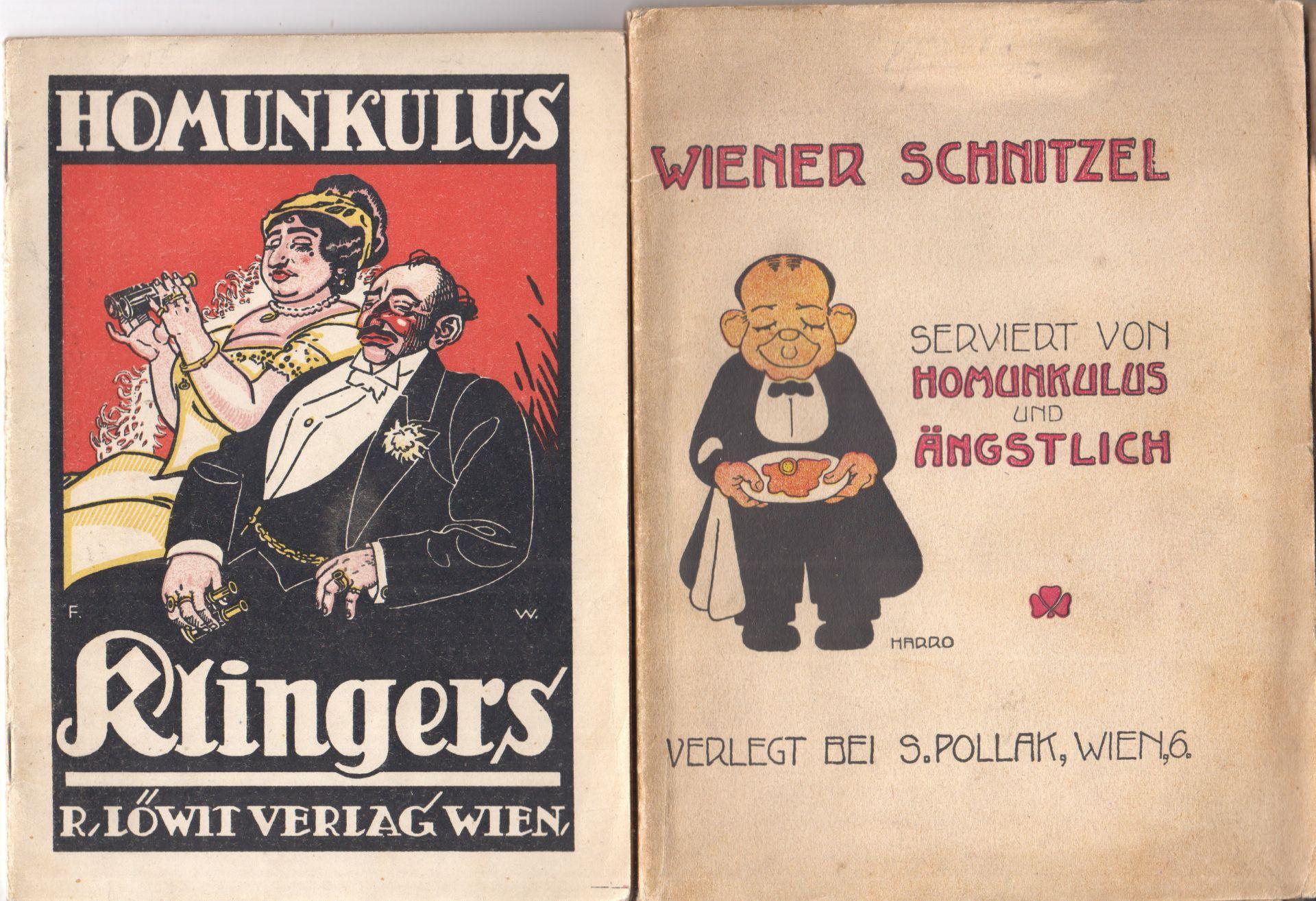 Wiener Schnitzel. Humoristische Vorträge, Kabaretgedichte, Anekdoten etc. serviert von Homunkulus und Tobias Änfgstlich.