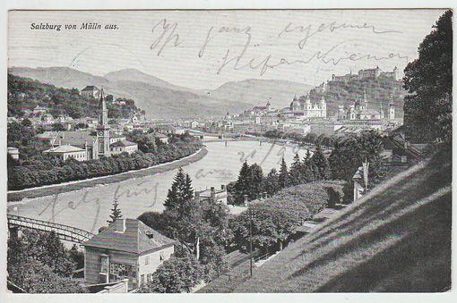 Salzburg von Mülln aus.