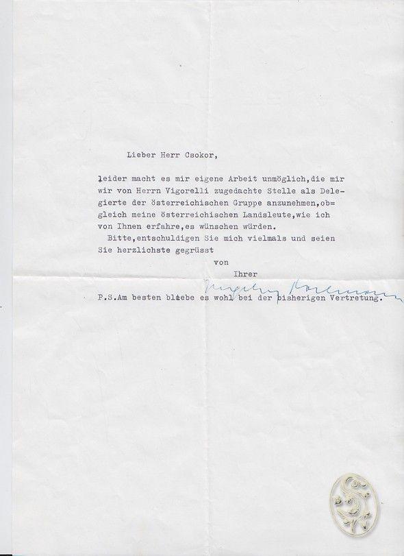 Ms. Brief mit eigenh. U.
