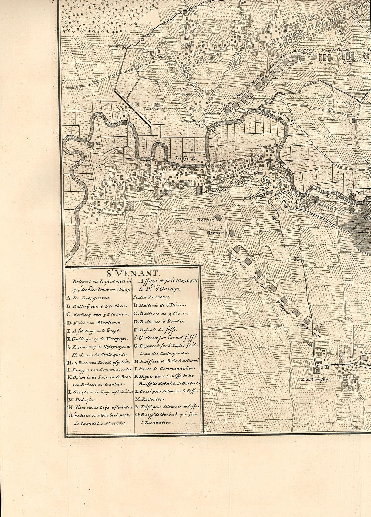St. Venant. Assiegé & pris en 1710 par le Pr. d`Orange.