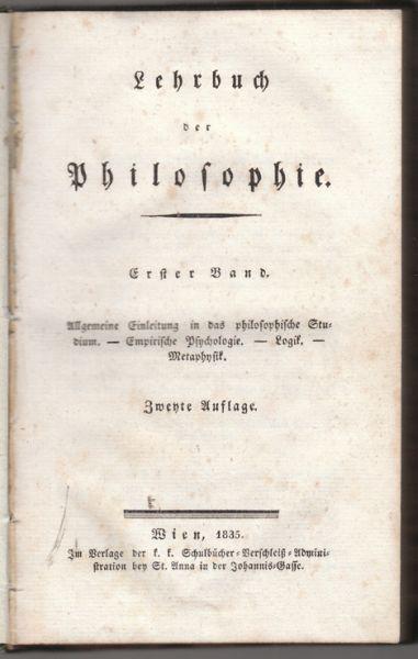 Lehrbuch der Philosophie.