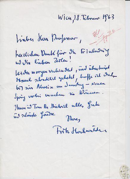 Eigenhändiger Brief m. U.