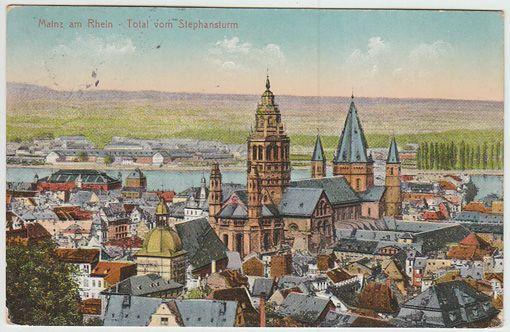 Mainz am Rhein - Total vom Stephansturm.