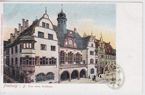 Freiburg i. B. Das neue Rathaus.