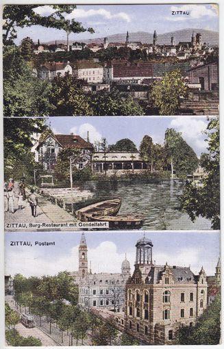 Zittau. Zittau, Burg-Restaurant mit Gondelfahrt. Zittau, Postamt.
