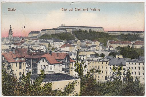 Glatz. Blick auf Stadt und Festung.
