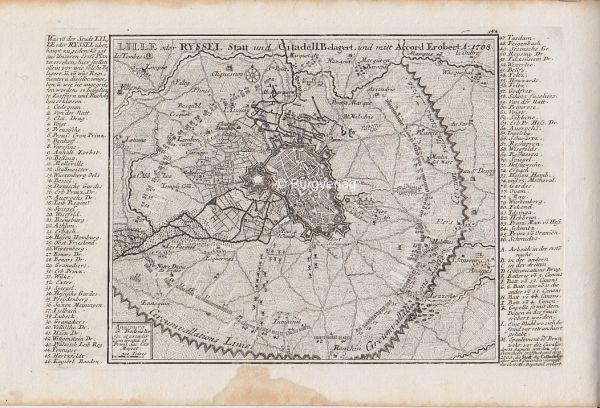 Lille oder Ryssel Statt und Citadell Belagert, und mit Accord Erobert A: 1708.