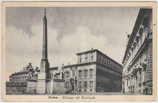 Roma - Palazzo del Quirinale. Palais du Quirinal. Palace of the Quirinal. Der Quirinal Palast.