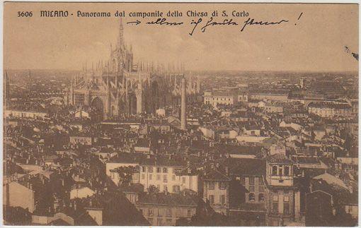 Milano - Panorama dal campanile della Chiesa di S. Carlo.