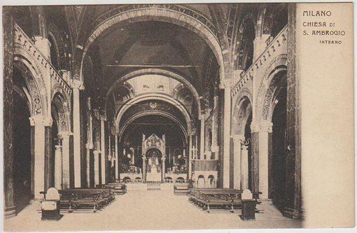Milano. Chiesa di S. Ambrogio. Interno.