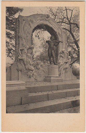 Wien, Johann-Strauß-Denkmal. Vienna, Monument of Johann Strauss. Vienne, Monument de Jean Strauss.