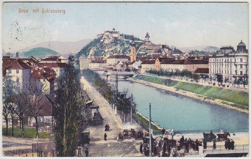 Graz mit Schlossberg.