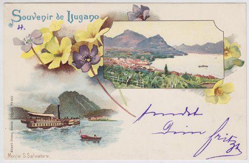 Souvenir de Lugano. Monte S. Salvatore.