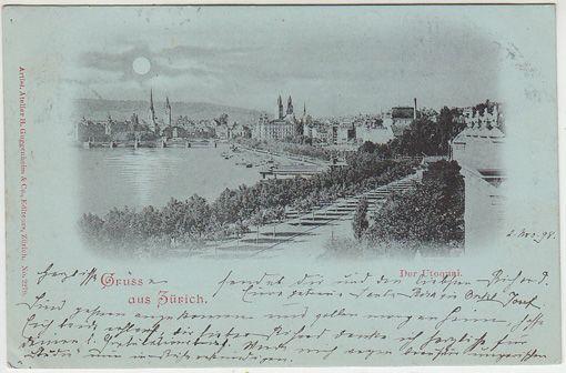 Gruss aus Zürich. Der Utoquai.