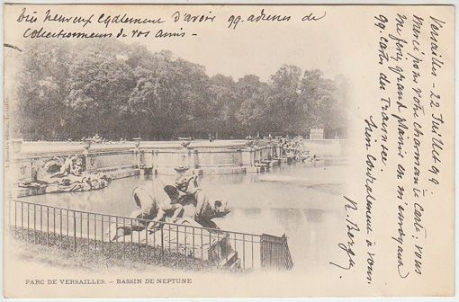 Parc de Versailles. - Bassin de Neptune.