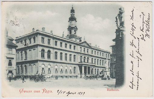 Gruss aus Riga. Rathaus.