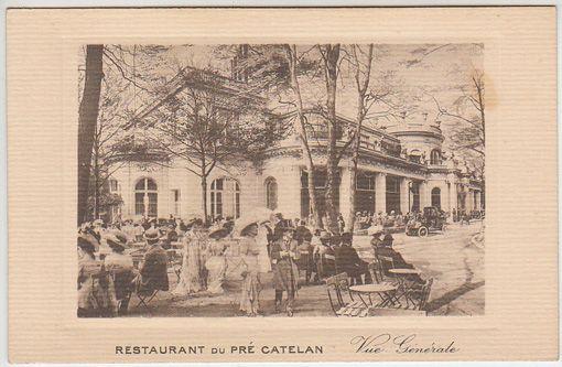 Restaurant du pré catelan.