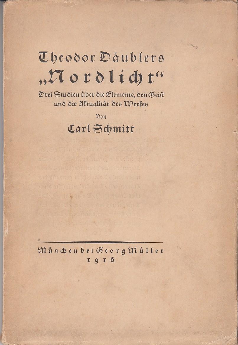 """Theodor Däublers """"Nordlicht"""". Drei Studien über die Elemente, den Geist und die Aktualität des Werkes, Gedruckte Widmung """"Zum Andenken an Fritz Eisler""""."""
