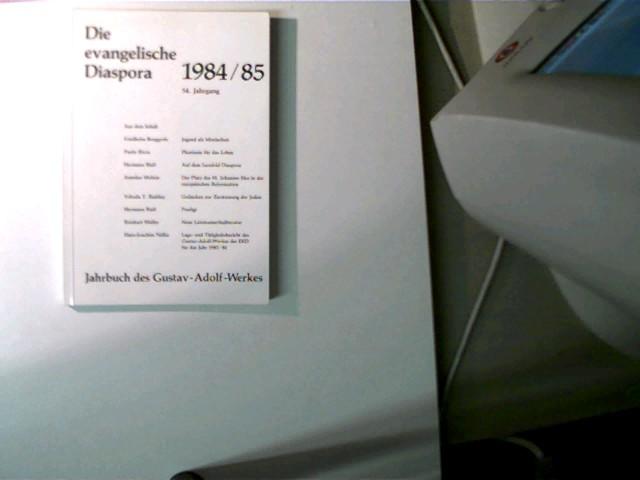 Die evangelische Diaspora, 54. Jahrgang; Jahrbuch des Gustav-Adolf-Werkes; 1984/85, schönes Exemplar,