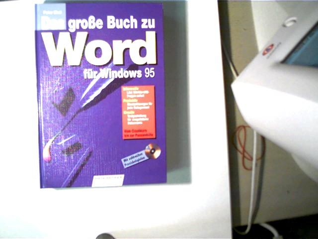 Das große Buch zu Word für Windows 95, Vom Crashkurs bis zur Pannenhilfe; 1. Auflage, gutes Exemplar, - Ebel, Peter