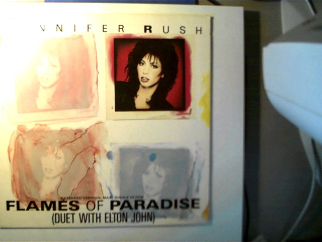 Jennifer Rush: Flames Of Paradise, Duet with Elton John, Maxi sehr guter Zustand,