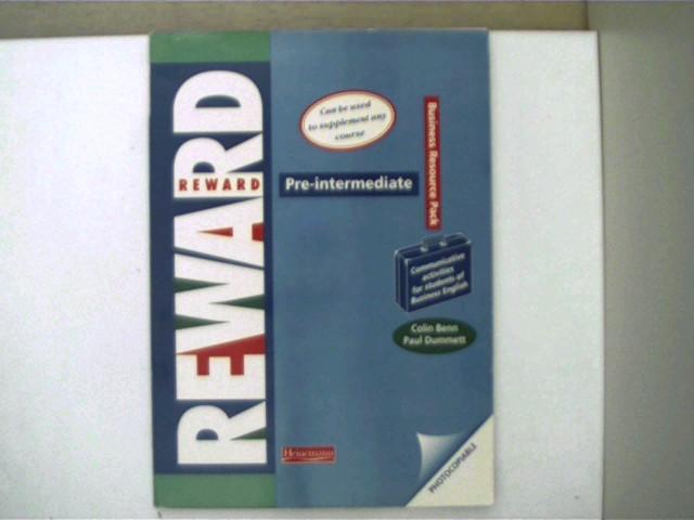 Reward Pre-intermediate Business Resource Pack; Selten, Arbeitsblätter lose in Umschlag, Ecken etwas angestoßen, ansonsten gutes Exemplar,