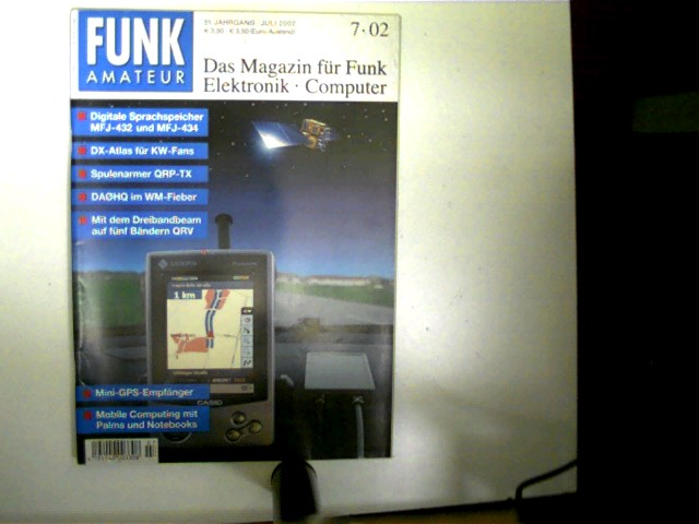 Funkamateur, Heft 7/2002, Das Magazin für Funk, Elektronik, Computer, gutes Exemplar,