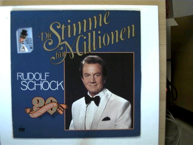 Schock, Rudolf: Rudolf Schock - Die Stimme für Millionen - 20 Wunschmelodien, Platte mit wenigen Kratzern auf Seite 2, Schutzhülle fehlt, Cover mit wenigen leichten Gebrauchsspuren u. hinten mit einer Ziffer, ansonsten guter Zustand,