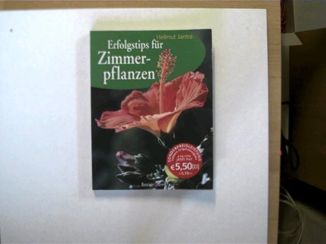 Erfolgstips für Zimmerpflanzen, Buchdeckel mit minimalen Gebrauchsspuren, ersten zwei Seiten mit einem Stempel, ansonsten gutes Exemplar,