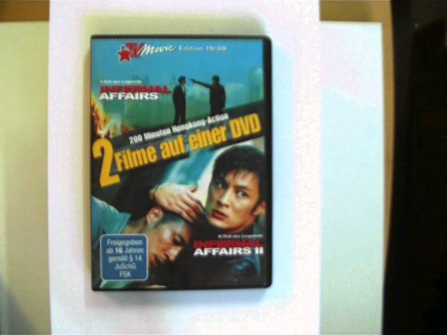 TV Movie Edition 19/08: Infernal Affairs / Infernal Affairs II; DVD mit etwas stärkeren Gebrauchsspuren, Hülle nur mit leichten Gebrauchsspuren, ansonsten guter Zustand,