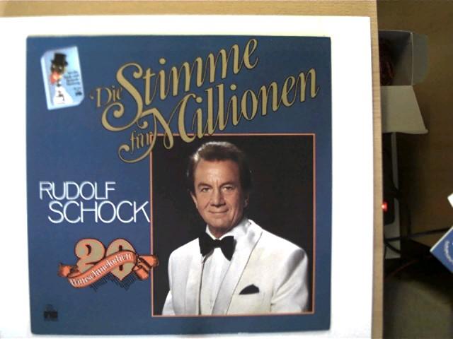 Schock, Rudolf: Rudolf Schock - Die Stimme für Millionen - 20 Wunschmelodien, Schallplatte sehr guter Zustand, Hülle mit minimalen Gebrauchsspuren u. an einer Seite offen, ansonsten guter Zustand,