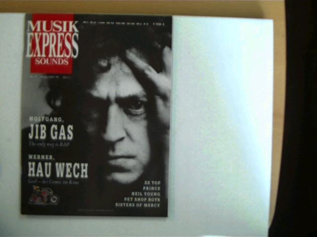 Musik Express - Sounds, Heft Nr. 11, November 1990, gutes Exemplar,