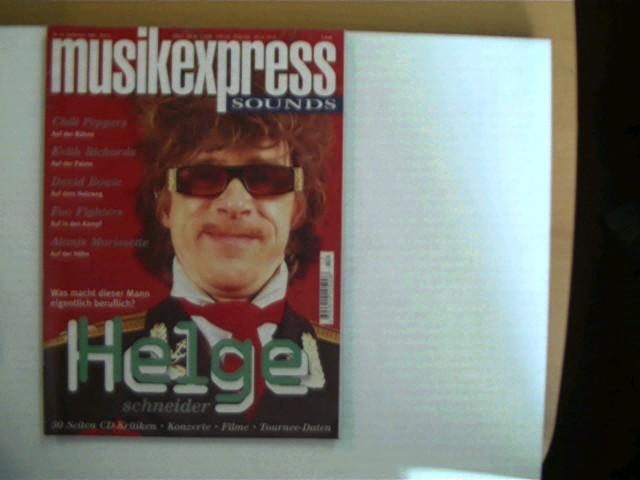 Musik Express - Sounds, Heft Nr. 12, Dezember 1995, gutes Exemplar,