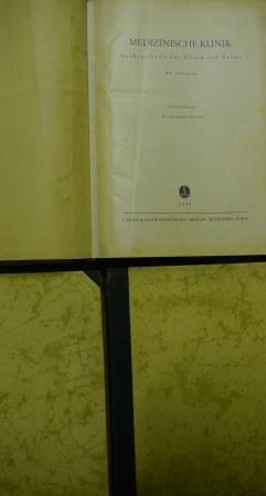 Medizinische Klinik, - Wochenschrift für Klinik und Praxis -, altersentsprechend i. O.; Unterstreichungen im Text,