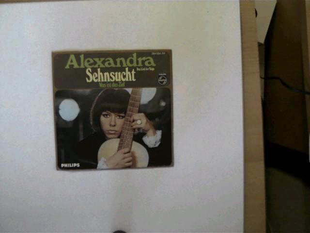 Alexandra: Sehnsucht/ Was ist das Ziel, Hülle mit wenigen leichten Gebrauchsspuren, Platte ansonsten guter Zustand,