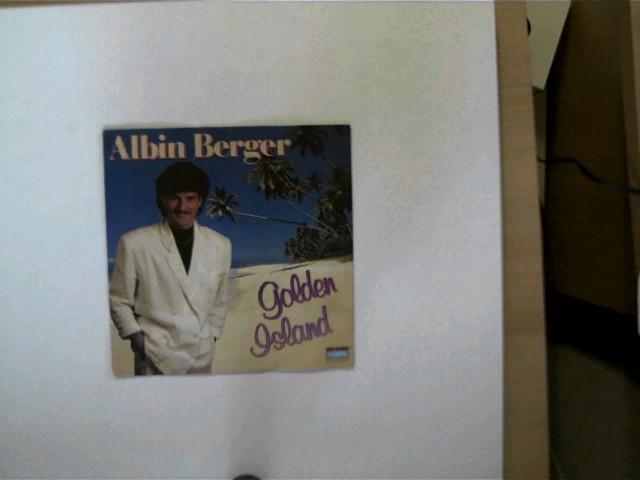 Albin Berger: Golden Island/ Jarmaine, Hülle mit wenigen leichten Gebrauchsspuren, Platte mit einigen Kratzern u. stärkeren Gebrauchsspuren, ansonsten guter Zustand,