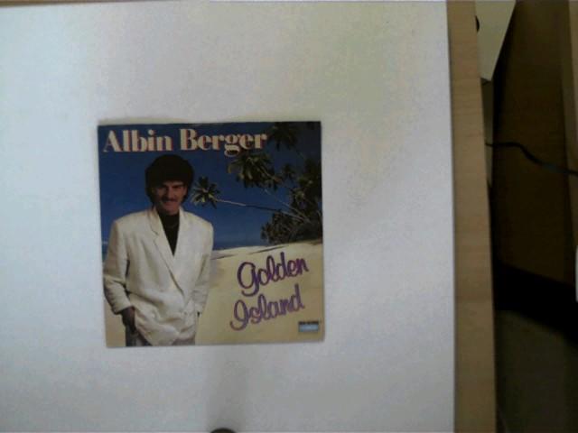 Albin Berger: Golden Island/ Jarmaine, Hülle mit wenigen leichten Gebrauchsspuren, Platte mit wenigen Kratzern, ansonsten guter Zustand,