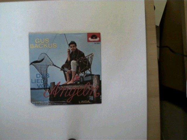 Gus Backus: Das Lied vom Angeln/ Linda, Hülle mit leichten Gebrauchsspuren, Platte ansonsten guter Zustand,
